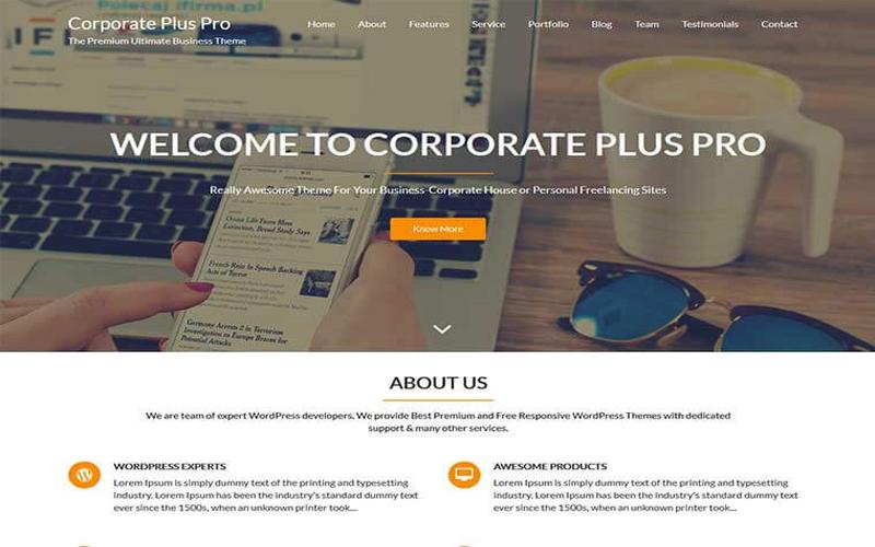 Corporate Plus با ابزارکهای سفارشی