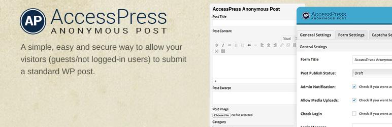 افزونه ارسال مطلب توسط کاربر وردپرس Access Press Anonymous Post