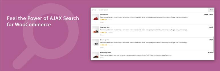 افزونه جستجو زنده محصولات ووکامرس Advanced Woo Search
