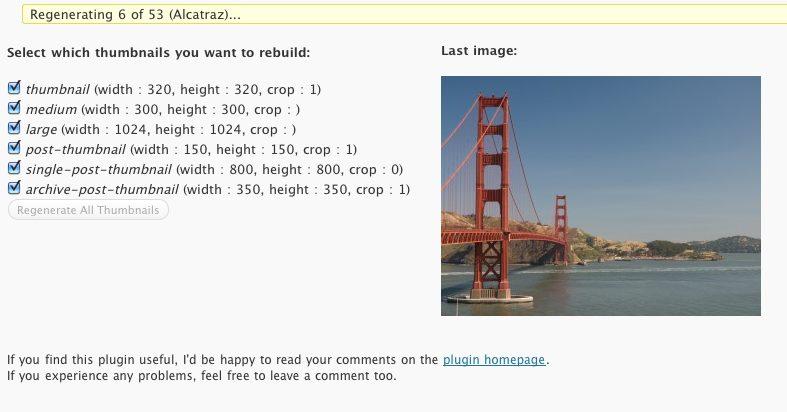 افزونه ساخت خودکار تصویر شاخص وردپرس AJAX Thumbnail Rebuild