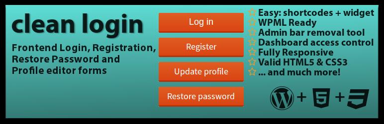 افزونه فرم عضویت و ورود Clean Login