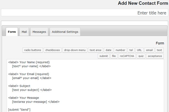 آموزش تنظیمات افزونه فرم تماس 7 وردپرس