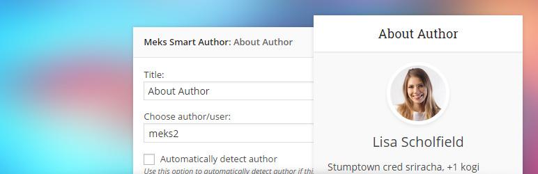 نمایش اطلاعات نویسنده و کاربران سایت در ابزارک وردپرس Meks Smart Author Widget