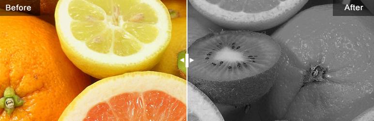 افزونه وردپرس مقایسه عکس Slider comparison image before and after