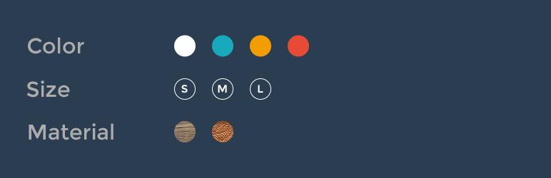 افزونه ووکامرس ویژگی متغییر پیشرفته Variation Swatches for WooCommerce