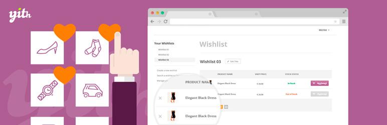 افزونه لیست علاقه مندی ووکامرس YITH WooCommerce Wishlist
